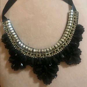Jewelry - Trendy Big bib statement necklace black jewel